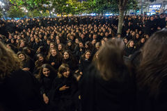 Durante o Queima DAS Fitas - é uma festividade tradicional dos estudantes de algumas universidades portuguesas Fotografia de Stock