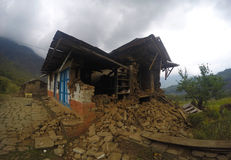 Durante um terremoto em Nepal Imagem de Stock Royalty Free