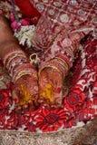 durante un pooja de la boda Imágenes de archivo libres de regalías