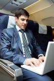 Durante vuelo Foto de archivo libre de regalías