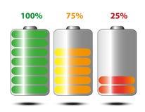 Durata di vita della batteria Immagine Stock