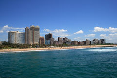 Durban. Coastline view of Durban city royalty free stock photography