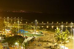 Durban beach at night, South Africa Stock Photos
