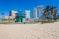 Durban Beachs Hotels Lifeguard Tower Stock Photos