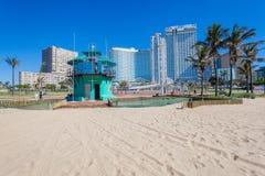 Durban Beachs Hotels Lifeguard Tower Stock Photos