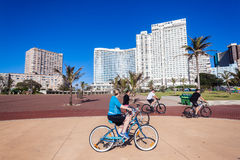 Durban Beachfront Cycling Public Royalty Free Stock Photography