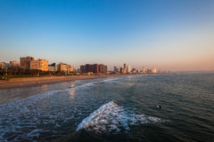 Durban Beachfront Ocean Morning Stock Images