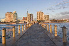Durban Beachfront Pier Ocean Landscape Stock Image