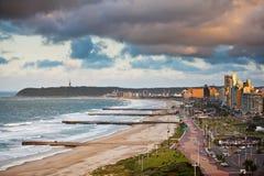 Durban Beachfront Sydafrika Fotografering för Bildbyråer