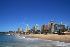 Durban city. Coastline view of Durban city beach front Royalty Free Stock Photos