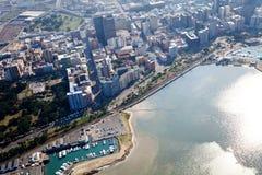 Durban city cbd. Overhead view of durban city cbd, south africa Royalty Free Stock Photo