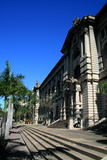 Durban city hall. And street stock image