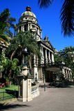 Durban city hall. And street royalty free stock photos