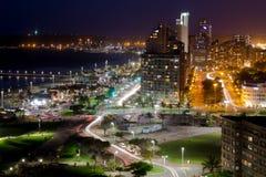 Durban city night. Durban's city center at night stock image