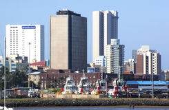Durban City Skyline and Maritime Mueseum From Harbor Stock Image