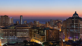 Durban Cityscape sunrise sunset Stock Photo