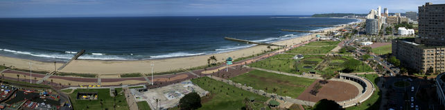 Durban coastline panorama Royalty Free Stock Photos