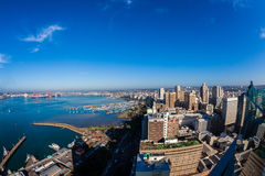 Durban Harbor City Buildings Overlooking Air Stock Photo
