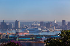 Durban Harbor Cruise Liner Football Stadium Stock Photos