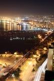 Durban harbor night scene royalty free stock image