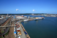Durban harbor overview Royalty Free Stock Images