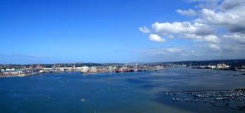 Durban harbor overview scenery stock image
