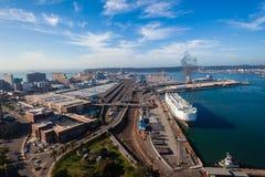 Durban Harbor Point Ships Cars Terminal  Stock Photos