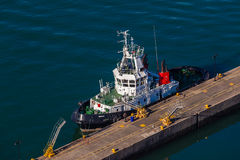 Harbor Port Tug Mooring Overlooking Royalty Free Stock Image