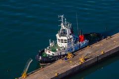 Harbor Port Tug Mooring Overlooking Royalty Free Stock Image