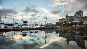 Durban Harbor Timelapse reflection stock footage