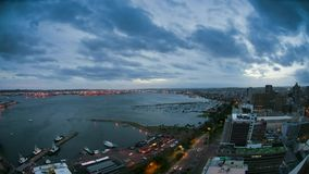 Durban Harbour and City Time-lapse, South Africa stock footage