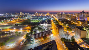 Durban horisont Sydafrika Arkivfoton