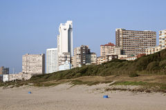 Durban Hotels and Apartments as Seen from Beach Royalty Free Stock Image