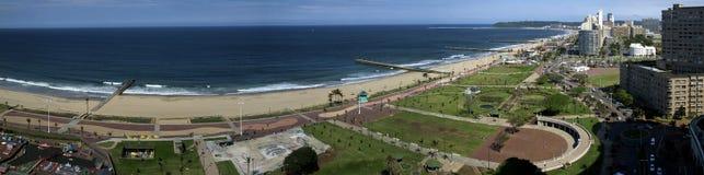 Durban-Küstenliniepanorama Lizenzfreie Stockfotos
