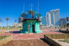 Durban Lifeguard Tower Hotels  Royalty Free Stock Photo