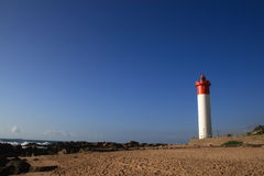 Durban lighthouse. A veiw of umhlanga rock's lighthouse royalty free stock photos