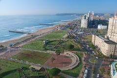 Durban. Nordstrandmorgenansicht. Kwazulu Natal, Südafrika Stockbilder