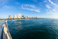 Durban Ocean Pier Beachfront Coastline Stock Image