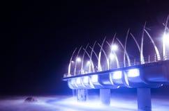 Durban-Pier geleuchtet nachts Stockfotos