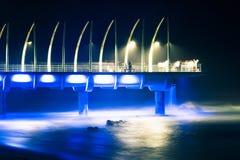 Durban Pierin Umhlanga acceso alla notte Fotografie Stock Libere da Diritti