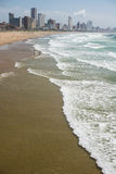 Durban plaża i linia horyzontu Obraz Stock