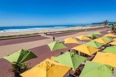 Durban Promenade Beach Umbrellas Stock Photo