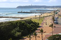 Durban promenade Royalty Free Stock Photo