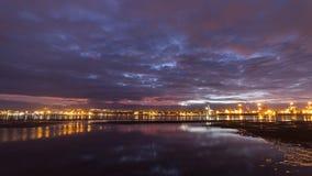 Durban, Südafrika bei Sonnenuntergang lizenzfreie stockfotos