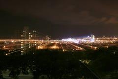 Durban Südafrika nachts mit Stern-Spuren Lizenzfreie Stockbilder