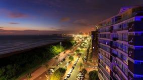 Durban-Skyline Südafrika stockfoto