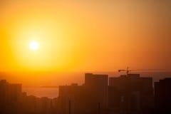 Durban-Skyline Südafrika stockbilder