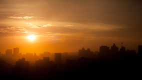 Durban Skyline South Africa. Durban Sunrise Skyline Sunset With Clouds Royalty Free Stock Image