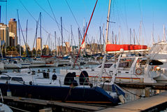 Durban small craft harbour Stock Photo