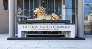 Lion Match head office building in South Africa. Durban, South Africa - 1 March, 2017: Entrance to the lion match company building royalty free stock photography